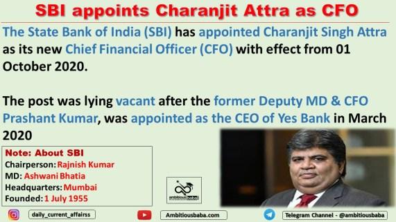 SBI appoints Charanjit Attra as CFO