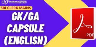 SBI Clerk Mains GA Capsule Blog Image