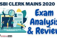 SBI Clerk Mains exam analysis