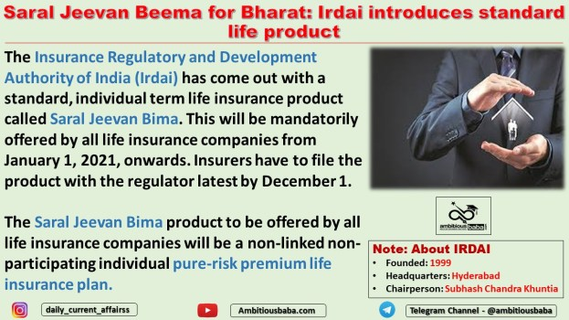 Saral Jeevan Beema for Bharat: Irdai introduces standard life product
