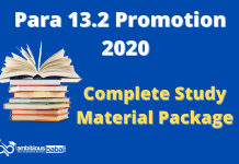 Para 13.2 Promotion Exam 2020: Complete Study Material Package