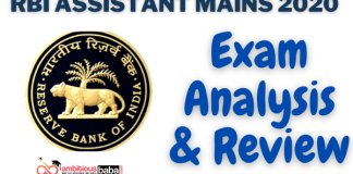RBI Assistant Mains Exam Analysis