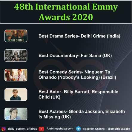 48th International Emmy Awards 2020