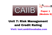 Risk Management and Credit Rating: CAIIB