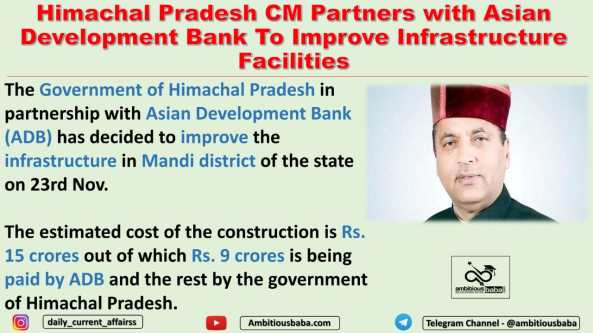 Himachal Pradesh CM Partners with Asian Development Bank To Improve Infrastructure Facilities