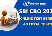 SBI CBO Mock Test