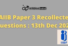 JAIIB paper 3 Recollected questions : 13th Dec 2020