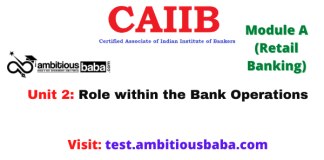 Role within the Bank Operations: CAIIB