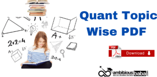 Quant Topic-Wise PDF: Download Here