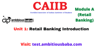 Retail Banking Introduction