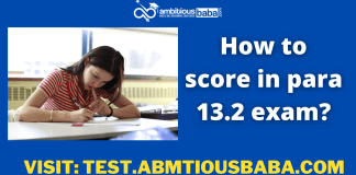 How to score in para 13.2 exam?