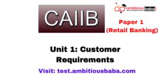 Customer Requirements: Caiib Retail banking