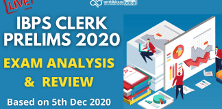 IBPS Clerk Pre Exam Analysis