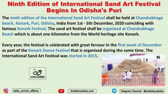 Ninth Edition of International Sand Art Festival Begins In Odisha's Puri