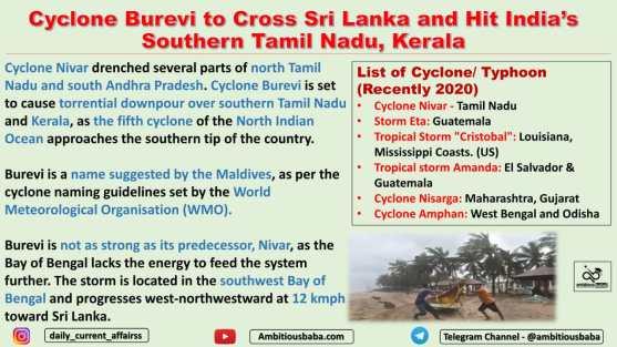 Cyclone Burevi to Cross Sri Lanka and Hit India's Southern Tamil Nadu, Kerala