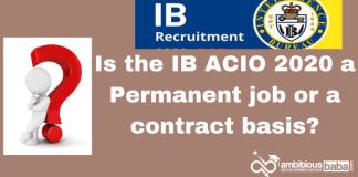 Is the IB ACIO 2020 a Permanent job or a contract basis?