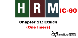 PARA 13.2 HRM (IC90) One Liner, Chapter 11: Ethics