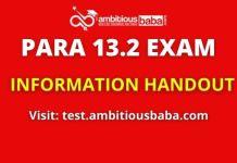 PARA 13.2 EXAM Structure