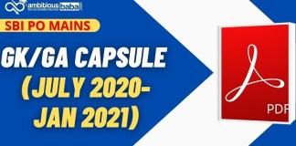 SBI PO Mains GK Capsule