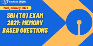 SBI Trainee Officers Exam 2021: Memory Based Questions