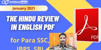 The Hindu Review Jan PDF 2021 :