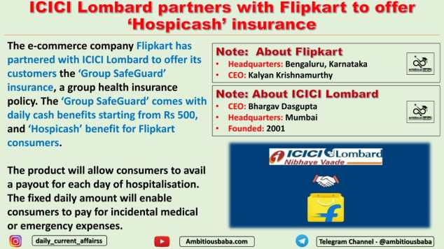 ICICI Lombard partners with Flipkart to offer 'Hospicash' insurance
