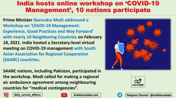 India hosts online workshop on 'COVID-19 Management', 10 nations participate