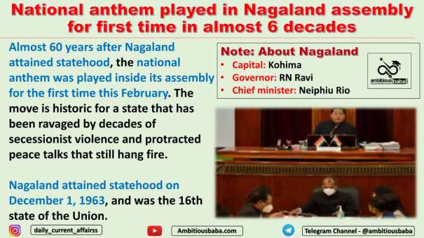 National anthem played in Nagaland assembly for first time in almost 6 decades