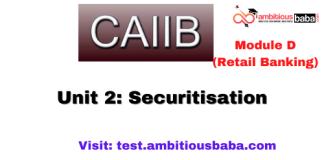 Securitisation: CAIIB Retail banking (Module D),Unit 2