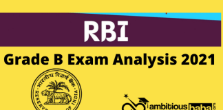 RBI Grade B Exam Analysis 2021 – 6th March, Shift 1