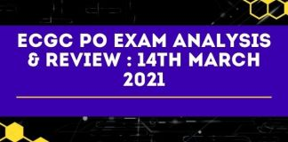 ECGC PO Exam Analysis 14th March