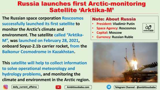 Russia launches first Arctic-monitoring Satellite 'Arktika-M'