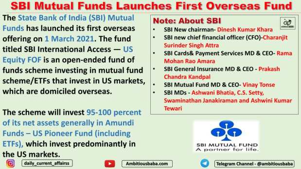 SBI Mutual Funds Launches First Overseas Fund