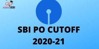 SBI PO CUTOFF 2020-21