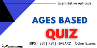 Ages Based quiz