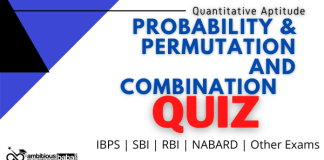 Probability & Permutation and Combination Quiz