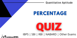Percentage Quiz