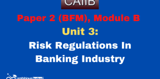 Risk Regulations In Banking Industry: CAIIB
