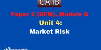 Market Risk: CAIIB Paper 2 (Module B), Unit 4