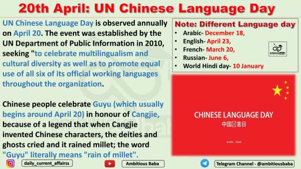 20th April: UN Chinese Language Day