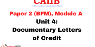 Documentary Letters of Credit: CAIIB