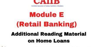 CAIIB Retail banking Module E