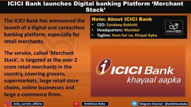 ICICI Bank launches Digital banking Platform 'Merchant Stack'