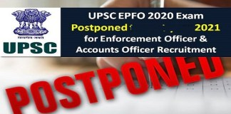 UPSC EPFO Exam Postponed