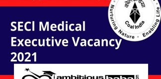 SECL Recruitment 2021 : 86 Post for Medical Executive