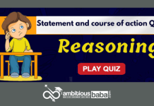 Statement and course of action Quiz