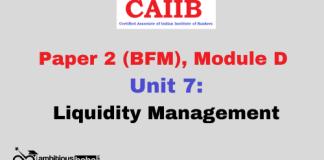 Liquidity Management: CAIIB