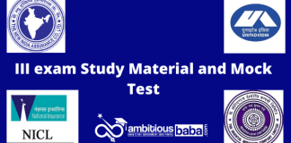 III exam Study Material and Mock Test