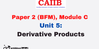 Derivative Products: CAIIB
