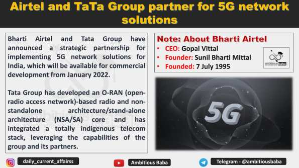 Airtel and TATA Group partner for 5G network solutions